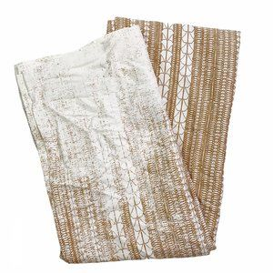 West Elm Echo Print Curtain Gold Dust Single Panel